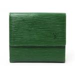 【現品限り】LOUIS VUITTON(ルイヴィトン) エピ Wホック財布 グリーン M63484 【中古B】