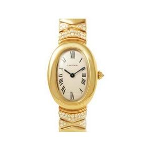 【現品限り】Cartier(カルティエ) ベニュワール トライアングル ダイヤ K18YG レディース 時計 【新品同様】 - 拡大画像