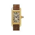 【現品限り】Cartier(カルティエ) タンクアロンジェ YG/革ベルト レディース 【中古A】