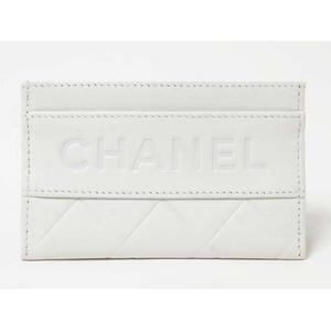 CHANEL(シャネル) ロゴ カードケース 白
