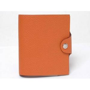 HERMES(HERMES(エルメス)) 手帳カバー ユリスミニ トゴ オレンジ