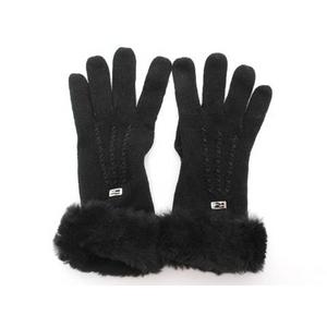 【現品限り】Fendi(フェンディ) 手袋 ラパンファー付 黒【中古SA】 - 拡大画像