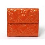 【現品限り】CHANEL(シャネル) シンボルチャーム Wホック財布 エナメル オレンジ A37152 【新品同様】