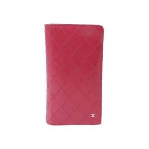 【現品限り】CHANEL(シャネル) ビコローレ 2つ折長財布 ピンク A46356 【中古B】 - 拡大画像