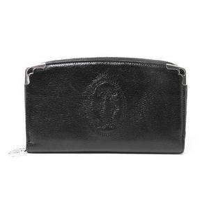 【現品限り】Cartier(カルティエ) マルチェロ ラウンドファスナー長財布 黒 ブラック L3000915 【未使用】
