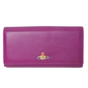 Vivienne Westwood(ヴィヴィアンウエストウッド) 二つ折長財布 カーフ パープル/赤 1032VW