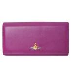 【現品限り】Vivienne Westwood(ヴィヴィアンウエストウッド) 二つ折長財布 カーフ パープル/赤 1032VW 【未使用】
