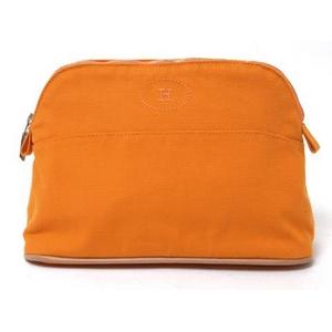 HERMES(エルメス) ボリードポーチ25 オレンジ シルバー金具