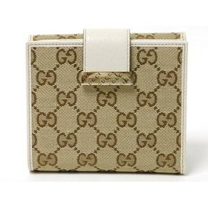Gucci(グッチ) GG柄 Wホック財布 ベージュ/白 212090
