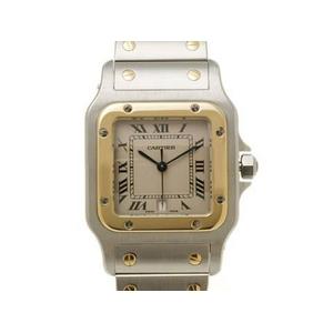 【現品限り】Cartier(カルティエ) サントスガルベLM コンビ メンズ クオーツ 旧バックル 【中古SA】