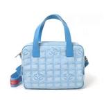 【現品限り】CHANEL(シャネル) トラベルライン 2WAYバッグ ブルー A15970 【中古SA】