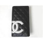 【現品限り】CHANEL(シャネル) カンボンライン 2つ折り長財布 ブラック/シルバー A26717 【新品】