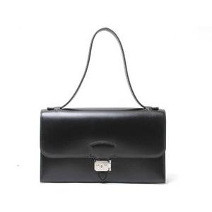 HERMES(エルメス) イリコエラン ショルダーバッグ ボックスカーフ 黒 シルバー金具