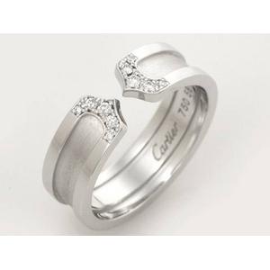 【現品限り】Cartier(カルティエ) C2リング SM WG ダイヤ #58 B4044200 【中古A】 - 拡大画像