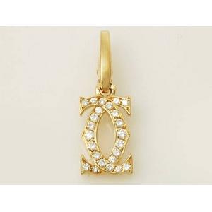 【現品限り】Cartier(カルティエ) 2Cダイヤチャーム YG 【新品同様】 - 拡大画像