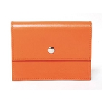 【現品限り】HERMES(エルメス) セリエ カードケース ボックスカーフ オレンジ 【新品同様】