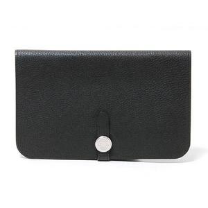 HERMES(エルメス) ドゴンGM トゴ 黒 ブラック シルバー金具