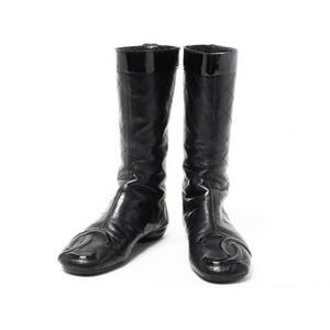 【現品限り】CHANEL(シャネル) カンボンライン ブーツ 黒 ブラック 【中古AB】 - 拡大画像