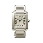Cartier(カルティエ) タンクフランセーズSM SS レディースクォーツ 時計 W51008Q3 【中古A】