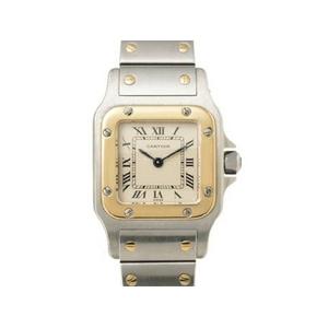 【現品限り】Cartier(カルティエ) サントスガルベSM クオーツ SS YG 旧バックル レディース 【中古SA】