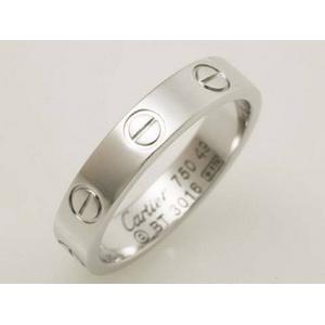 【現品限り】Cartier(カルティエ) ミニラブリング K18WG #49 【中古SA】