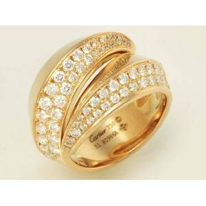 【現品限り】Cartier(カルティエ) パンテール グリフ ダイヤリング K18YG #51 B4194500 【中古SA】