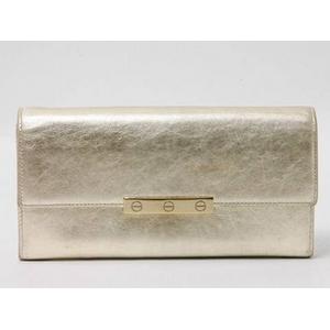 【現品限り】Cartier(カルティエ) ビスモチーフ 2つ折長財布 シャンパンゴールド L3000823 【中古AB】 - 拡大画像