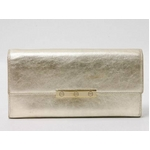 【現品限り】Cartier(カルティエ) ビスモチーフ 2つ折長財布 シャンパンゴールド L3000823 【中古AB】