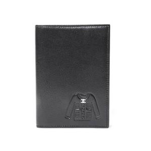 CHANEL(シャネル) パスポートケース(手帳カバー) ジャケットモチーフ 黒 ブラック