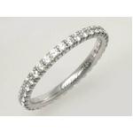 【現品限り】Cartier(カルティエ) クローセッティング エタニティ ダイヤリング K18WG #48 B4077900 【中古SA】