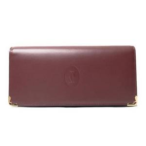 【現品限り】Cartier(カルティエ) カルティエ マスト 2つ折長財布 ボルドー L3000466 【新品同様】