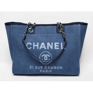 CHANEL(シャネル) キャンバス トートバッグ ブルー