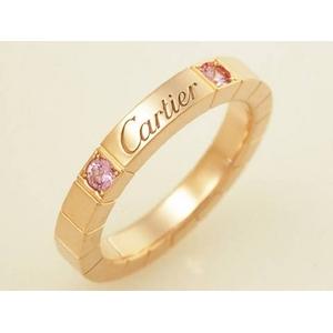 【現品限り】Cartier(カルティエ) ラニエールリング 2P ピンクサファイヤ PG #50 【中古SA】