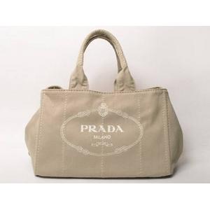 a01c3178f660 【現品限り】PRADA(プラダ) トートバッグ ロゴ キャンバス ベージュ B1877B 【未