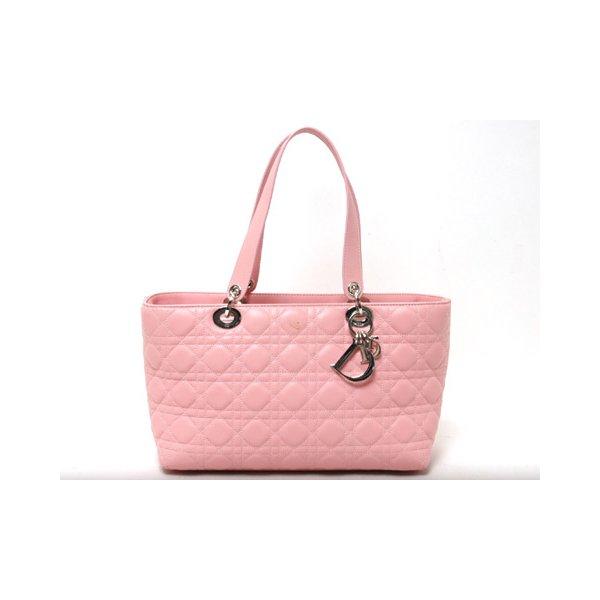 Dior(ディオール)レディディオール トートバッグ ピンク【中古AB】 - 拡大画像1