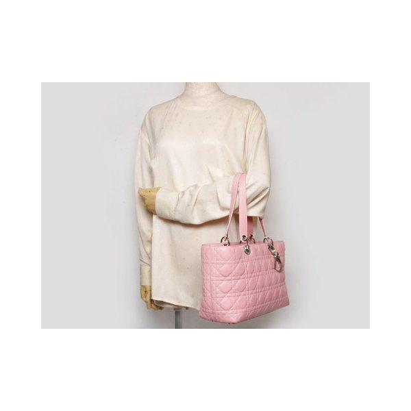 Dior(ディオール)レディディオール トートバッグ ピンク【中古AB】 - 拡大画像2