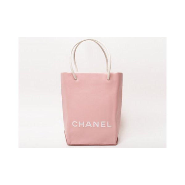 【美品】CHANEL[シャネル]  エッセンシャルトート 小 ピンク A46880 【中古SA】 - 拡大画像1