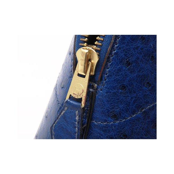 【美品】HERMES[エルメス]ボリード27 オースト ブルーフランス ゴールド金具 【中古A】 - 拡大画像4