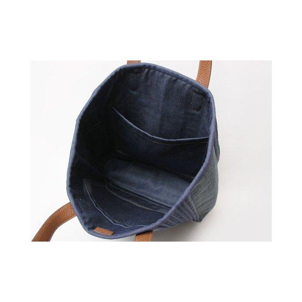 【美品 現品限り】 HERMES [エルメス]  トートバッグ カリカット デニム ブルー 【新品同様】 - 拡大画像3