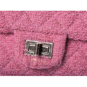CHANEL [シャネル] 2.55 ツイード ショルダーバッグ ピンク 【中古B】の商品写真-4
