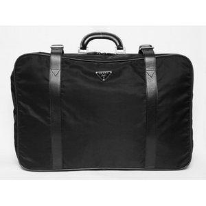【美品 現品限り】 PRADA [プラダ] スーツケース ナイロン/レザー 黒 ブラック V102/65 【中古AB】 - 拡大画像