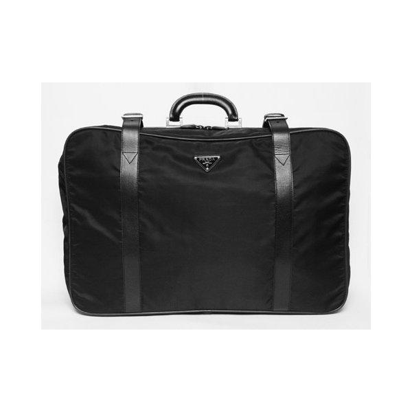 【美品 現品限り】 PRADA [プラダ] スーツケース ナイロン/レザー 黒 ブラック V102/65 【中古AB】 - 拡大画像1