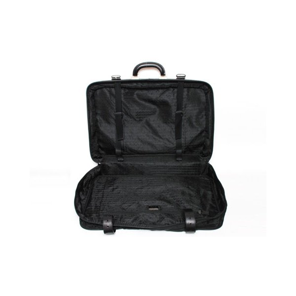 【美品 現品限り】 PRADA [プラダ] スーツケース ナイロン/レザー 黒 ブラック V102/65 【中古AB】 - 拡大画像3