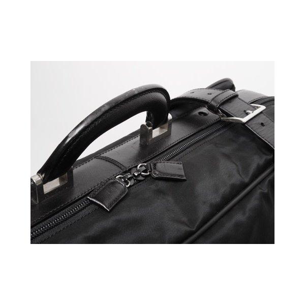 【美品 現品限り】 PRADA [プラダ] スーツケース ナイロン/レザー 黒 ブラック V102/65 【中古AB】 - 拡大画像4