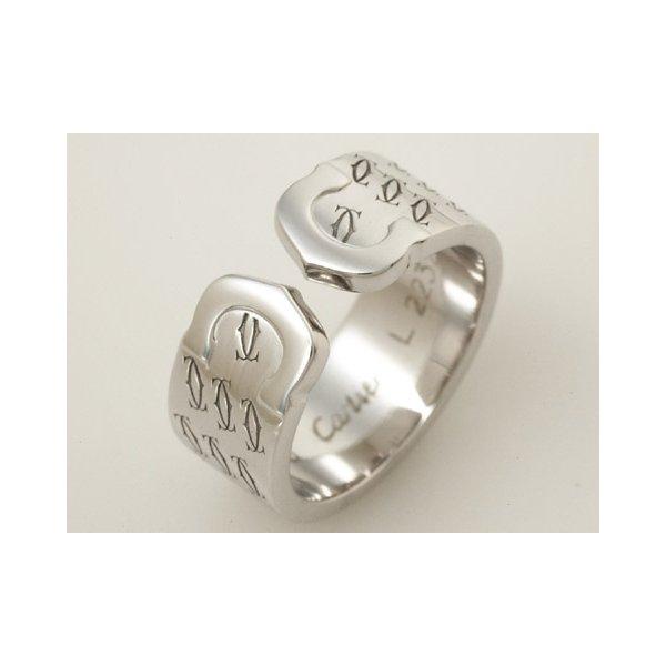 【美品 現品限り】 Cartier [カルティエ] 2Cリング K18WG 2000年クリスマス限定 #51 【中古SA】 - 拡大画像1