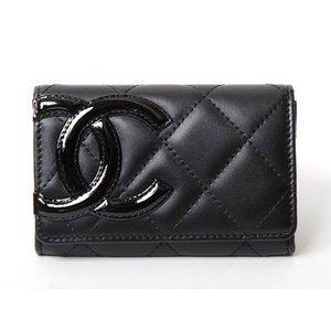 【美品・現品限り】CHANEL [シャネル] カンボンライン カードケース 黒/黒 A50081 【新品】 - 拡大画像
