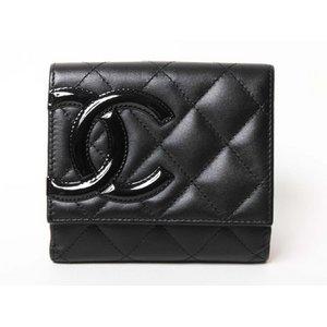 【美品・現品限り】CHANEL [シャネル] カンボンライン Wホック財布 黒 黒 A50099  【新品】 - 拡大画像