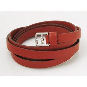 【美品 現品限り】 HERMES [エルメス] ブレスレット 赤 シルバー金具 【中古A】 - 拡大画像