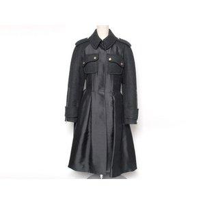 【美品・現品限り】 LOUIS VUITTON [ルイヴィトン] コート 黒/グレー 【中古A】 - 拡大画像