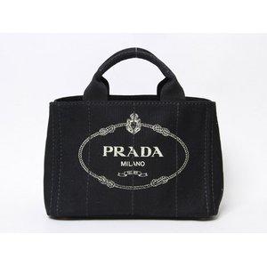 【現品限り】 PRADA [プラダ] カナパ ロゴ入り ミニトートバッグ 黒/ブラック BN2439 【新品】